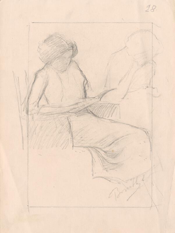 Andor Borúth - Čítajúca mladá žena