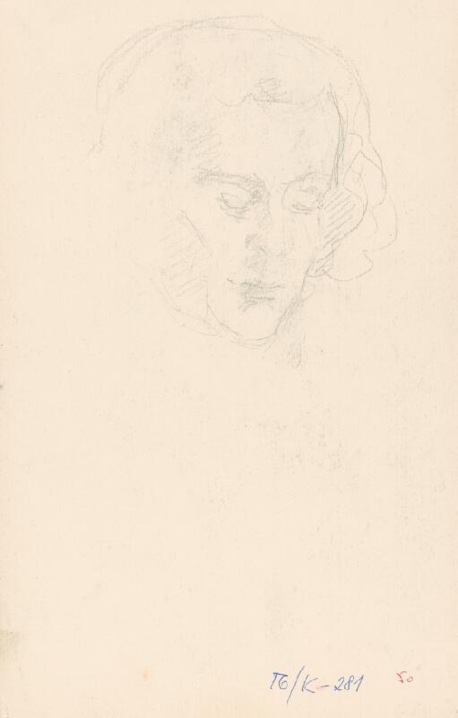 Andor Borúth - Sediaca žena v šatke