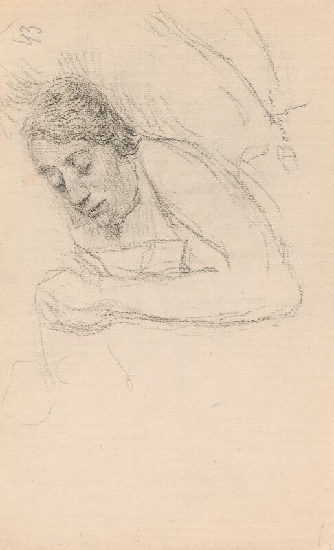 Andor Borúth - Ležiaca žena