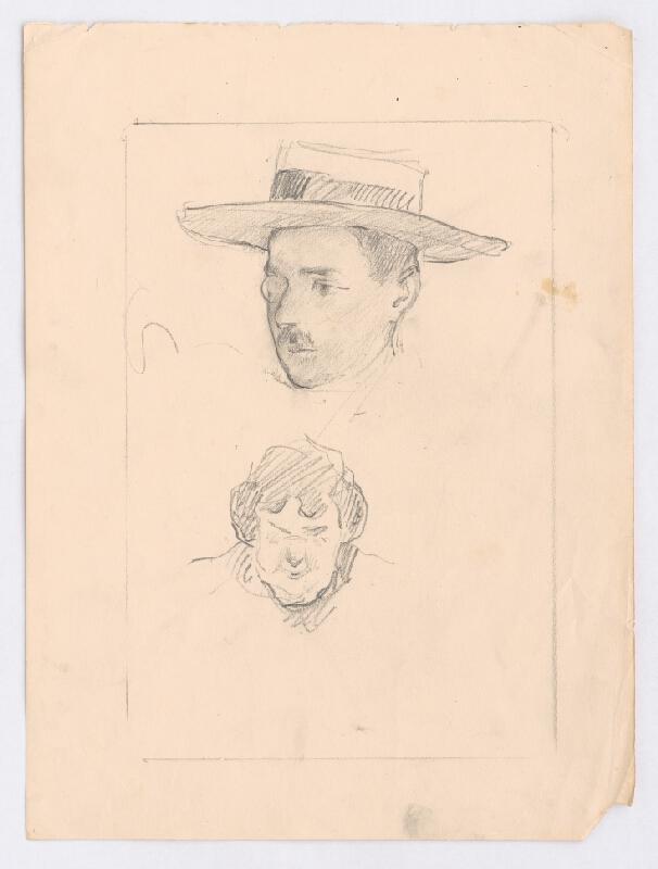 Andor Borúth - Hlava muža s monoklom