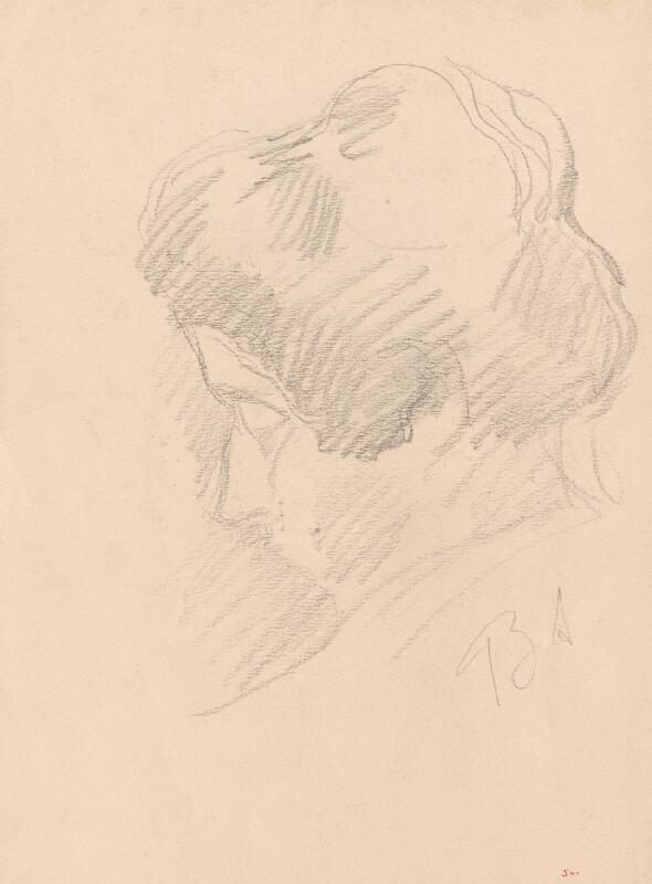 Andor Borúth - Náčrt ženskej hlavy