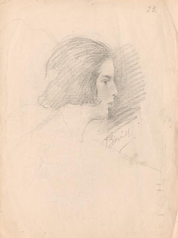 Andor Borúth - Profil mladej ženy