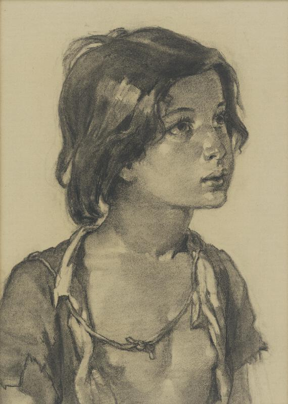 Viktor Kiss - Portrét cigánskeho dievčaťa