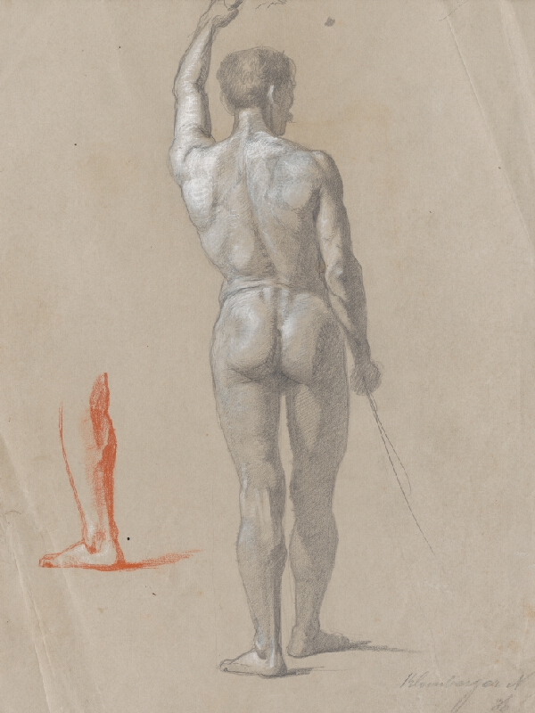 Ferdinand Katona - Stojaci mužský akt odzadu