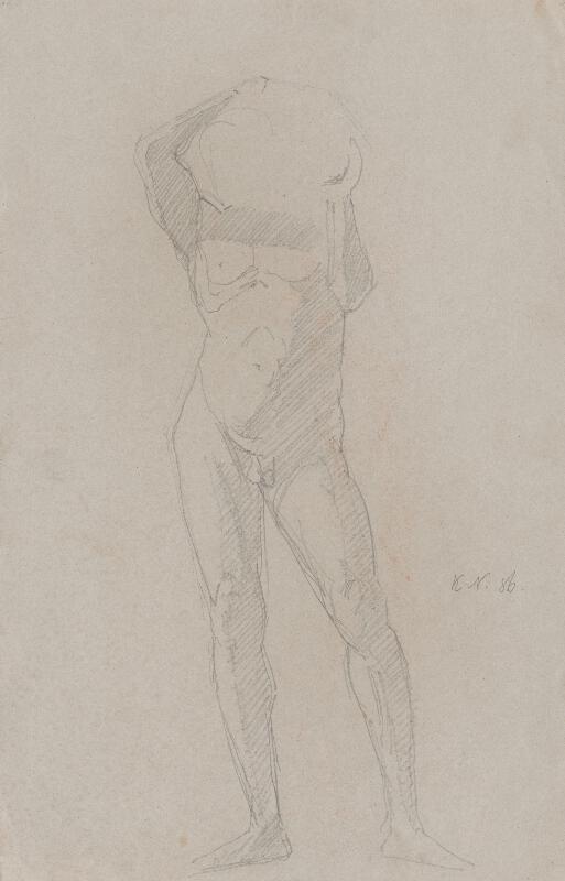 Ferdinand Katona - Mužský akt s bremenom