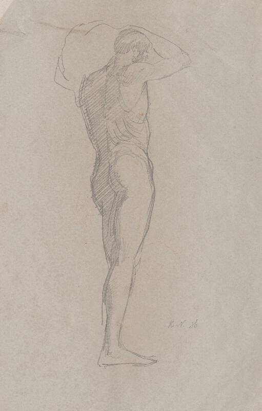 Ferdinand Katona - Mužský akt s bremenom odzadu