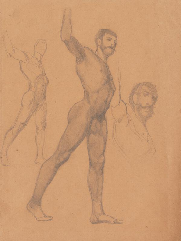 Ferdinand Katona – Tri náčrty mužského aktu