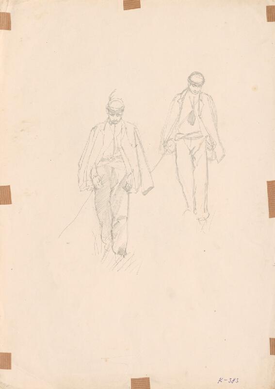 Ferdinand Katona - Dve štúdie kráčajúceho muža