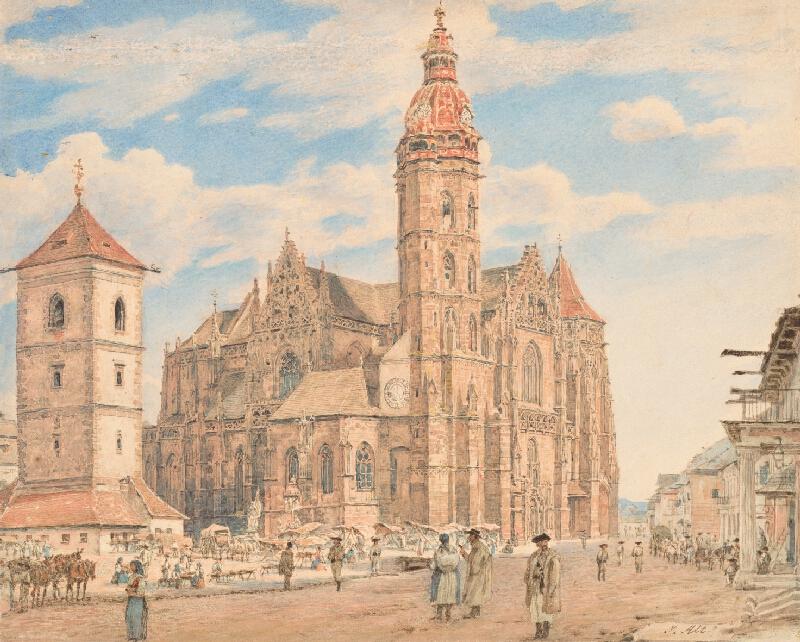 Jakob Alt - Námestie pred košickým dómom