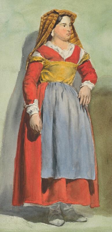 Vojtech Klimkovič – Žena v talianskom kroji