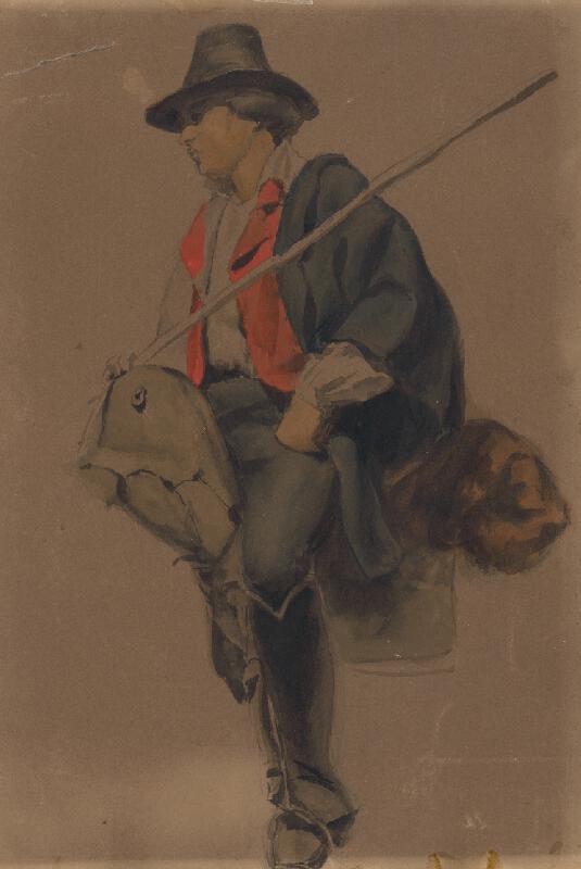 Vojtech Klimkovič - Štúdia muža z Albánie