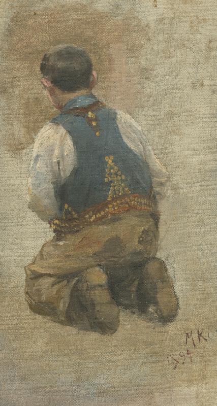 Maximilián Kurth - Štúdia k obrazu Odpust