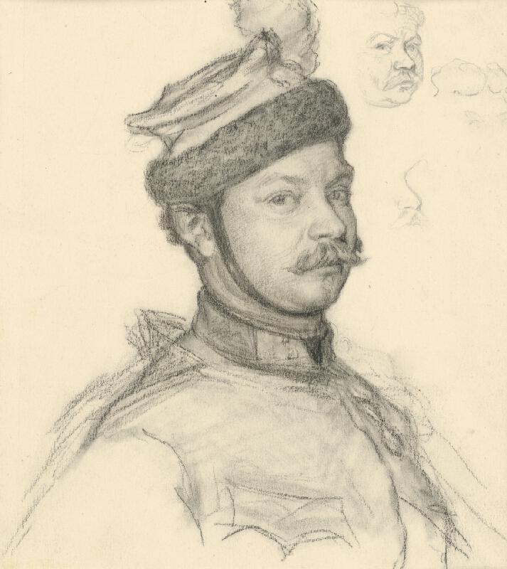 Klimkovič - Štúdia hlavy vojaka