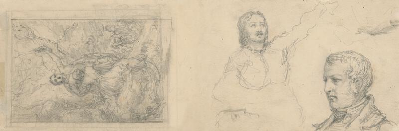 Slovenský maliar z 2. polovice 19. storočia – Štúdia mužskej hlavy a poprsia