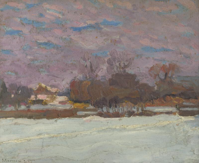 Jozef Theodor Mousson - Umelcova záhrada v zime