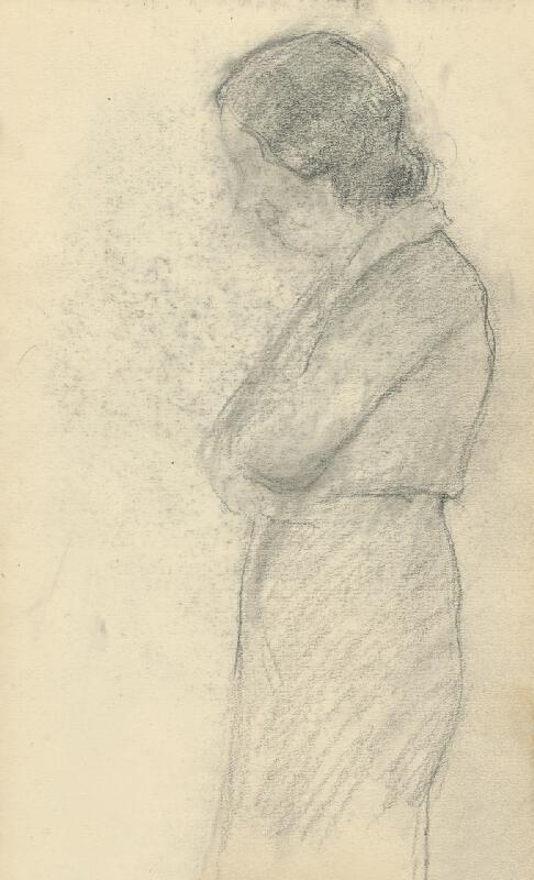 Andor Borúth - Štúdia ženskej postavy v profile