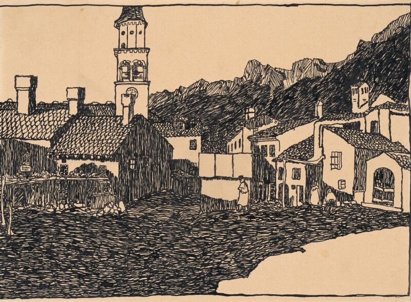 Anton Jasusch - Námestie s vežou