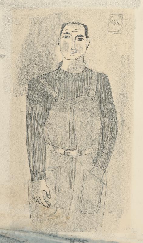 Alexander Eckerdt - Autoportrét v montérkach
