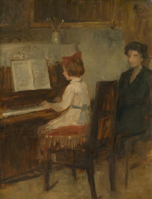 Andor Borúth - Dievčatko pri klavíri