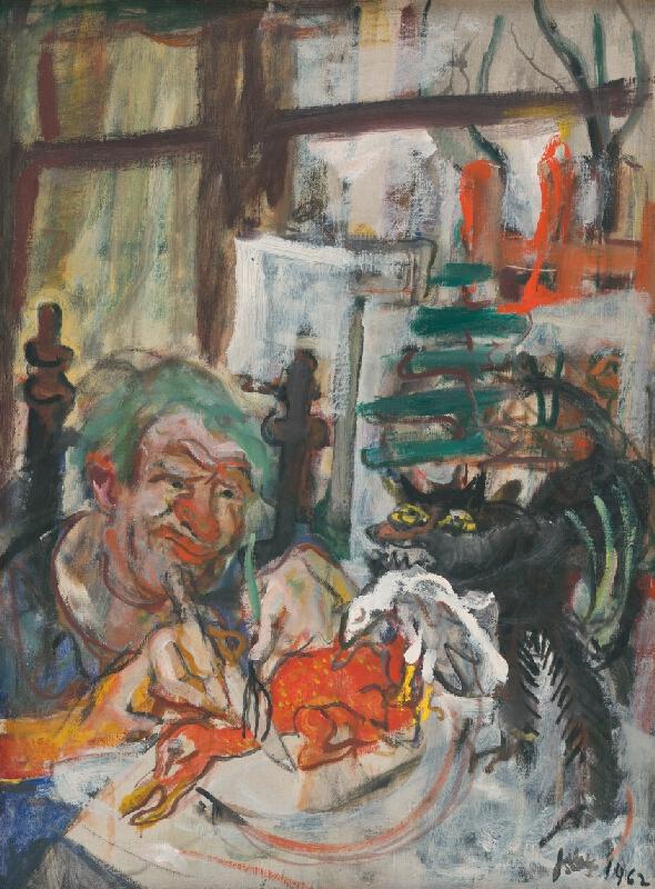 Július Jakoby – Jedák kačíc, 1962, Východoslovenská galéria