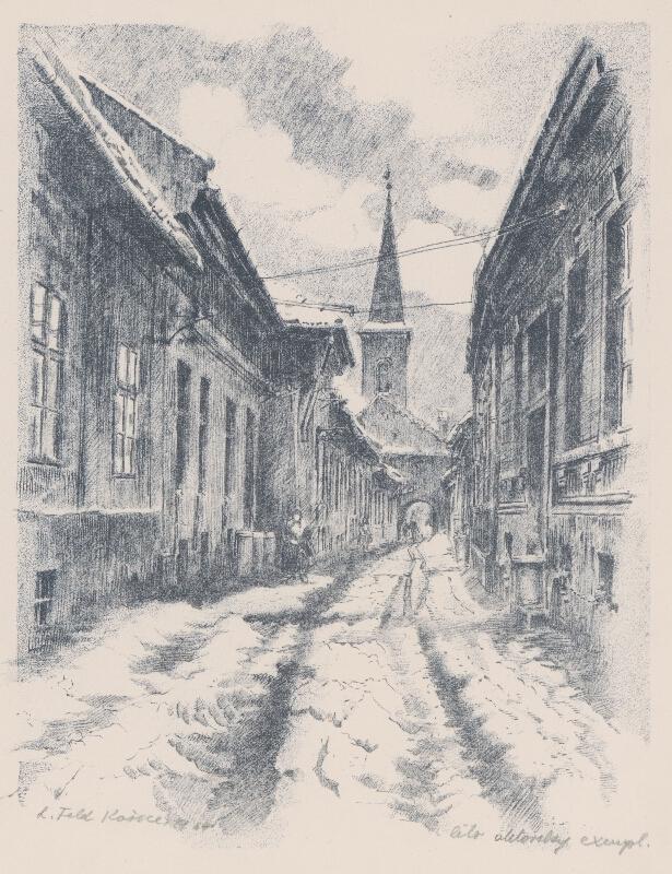 Ľudovít Feld - Hrnčiarska ulica v Košiciach
