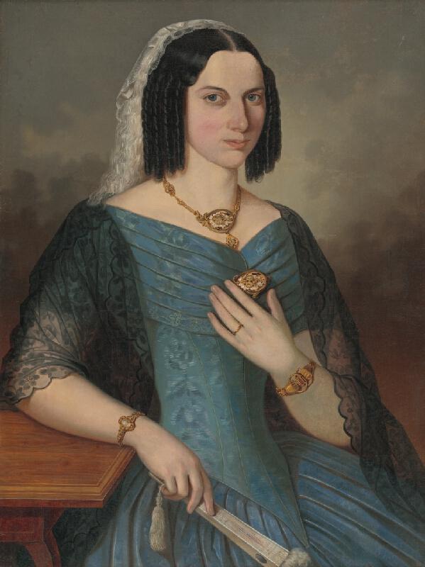 Peter Michal Bohúň - Podobizeň dámy v modrom