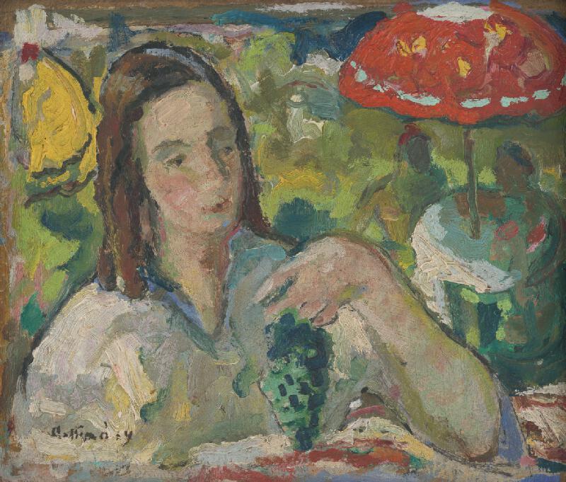 Juraj Collinásy - Dievča v záhradnej reštaurácií