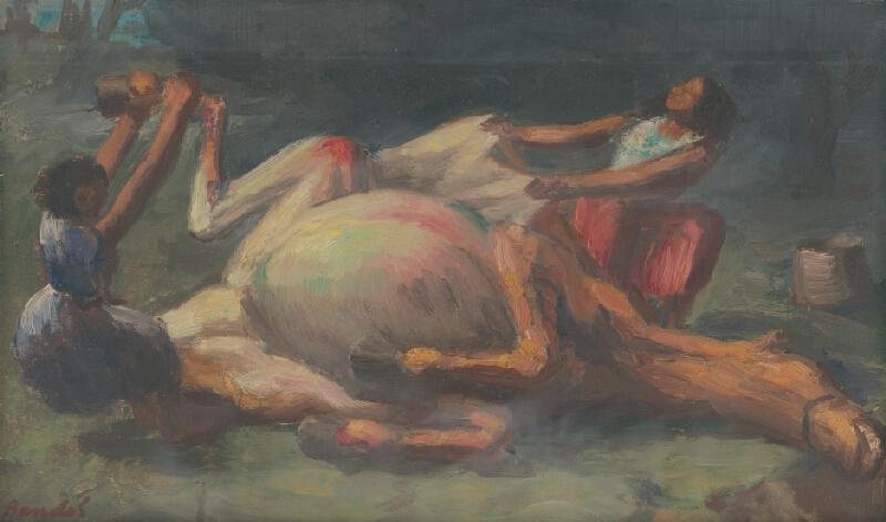 Jozef Bendík - Cigáni nad zdochnutým koňom