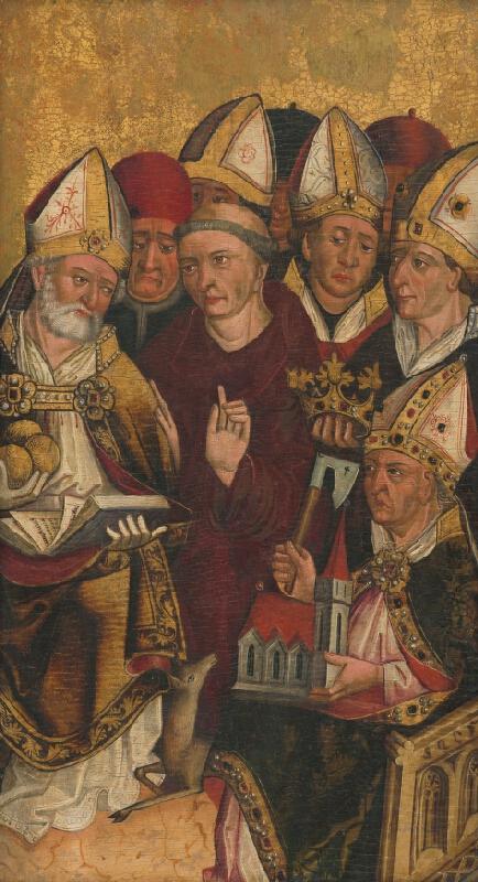 Slovenský maliar z 2. polovice 15. storočia - Fragment oltárneho krídla z Parchovian
