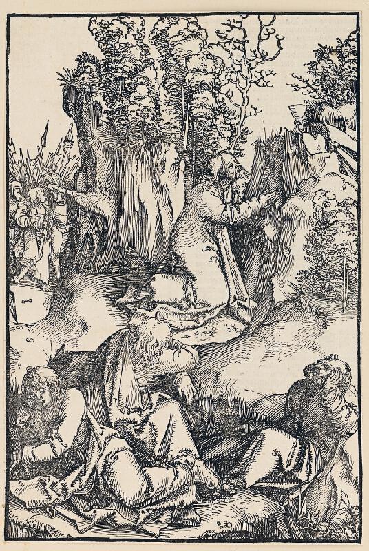 Hans Schäufelein (Schäufelin) st. - Kristus sa modlí na Olivovej hore
