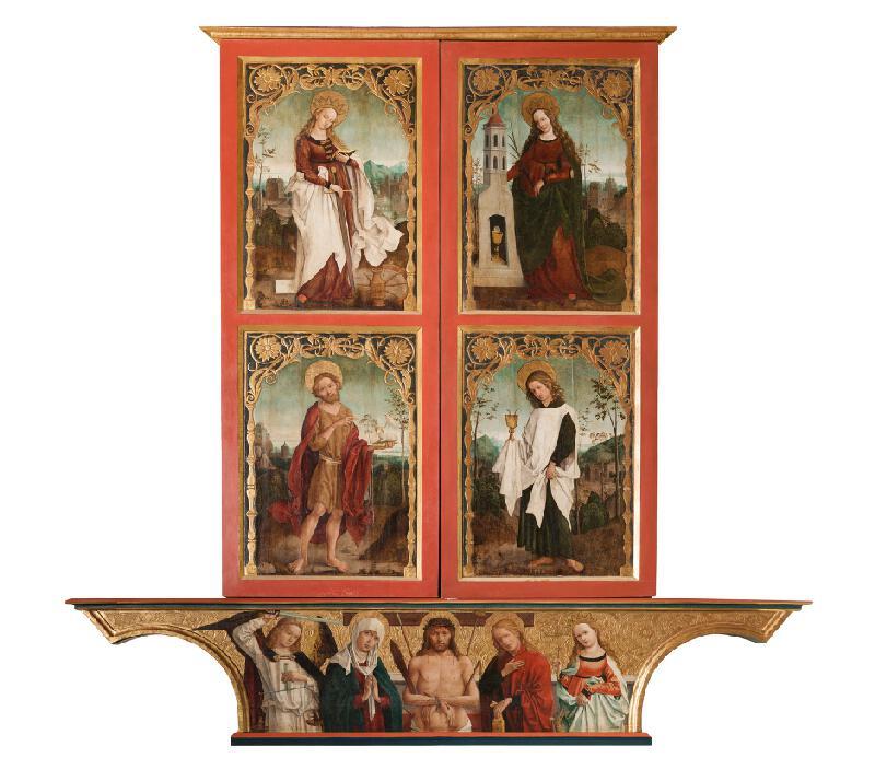 Majster z Okoličného , Košická dielňa - Oltár Navštívenia Panny Márie v Košiciach - pôstna strana