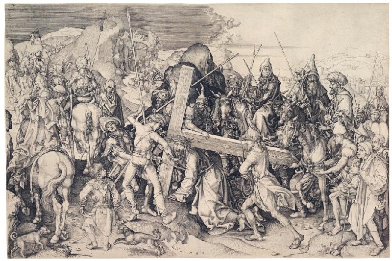 Martin Schongauer - Veľké nesenie kríža