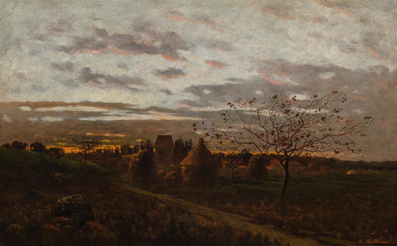 Antonín Chittussi - Západ slunce ve Fontainebleau (Večer v okolí Barbizonu)