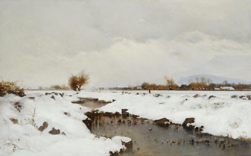 Antonín Chittussi - Zimní krajina