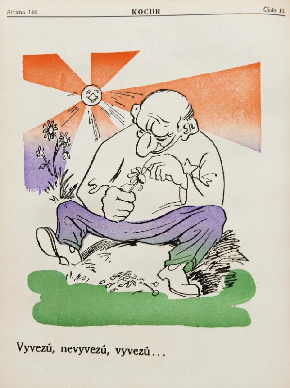 Neznámy autor - Protižidovské karikatúry z humoristického časopisu Kocúr - Vyvezú, nevyvezú, vyvezú