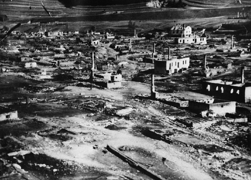 Neznámy autor - Partizánska obec Telgárt vypálená fašistami 30. 9. 1944