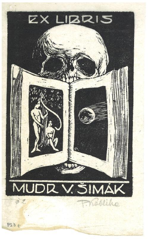 František Kobliha - Ex libris, MUDr. V. Šimák