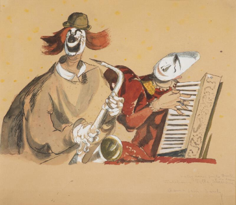 František Tichý – Fratellini se saxofonem