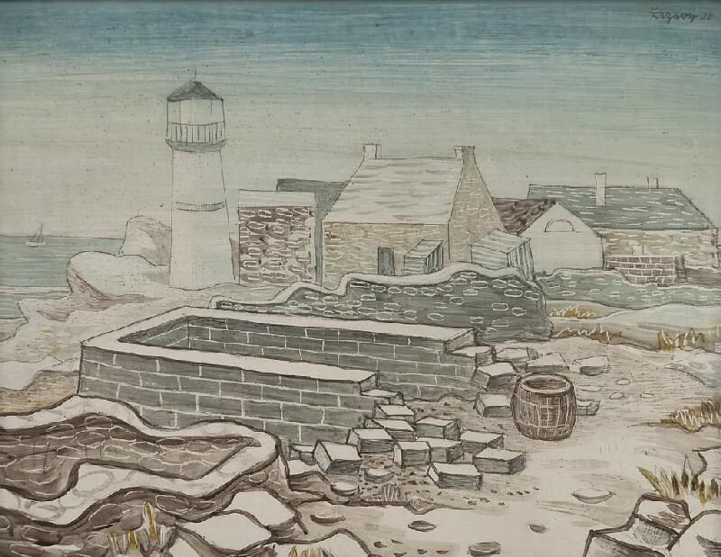 Jan Zrzavý - Motiv z Bretaně