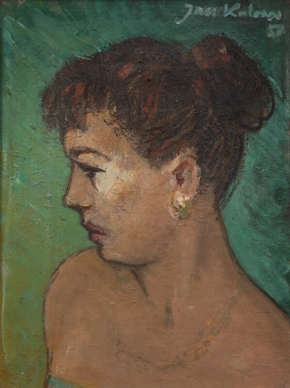 Jan Kalous - Portrét v zeleném