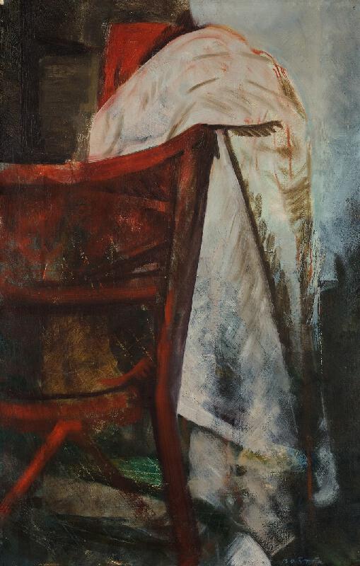Václav Boštík - Zátiší s červenou židlí