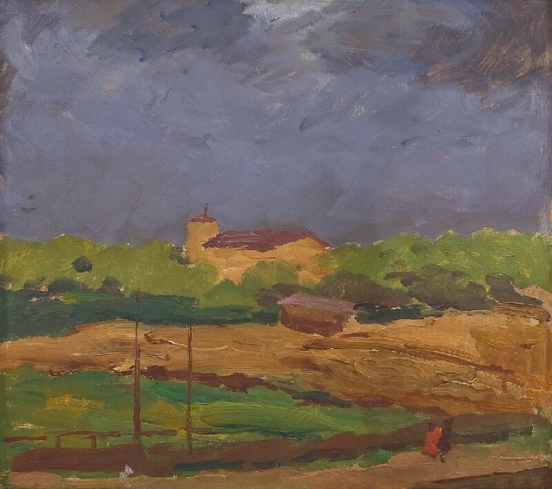 Antonín Slavíček - Letná v bouři