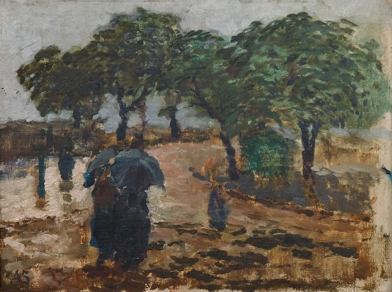 Antonín Slavíček - Na Letné v dešti
