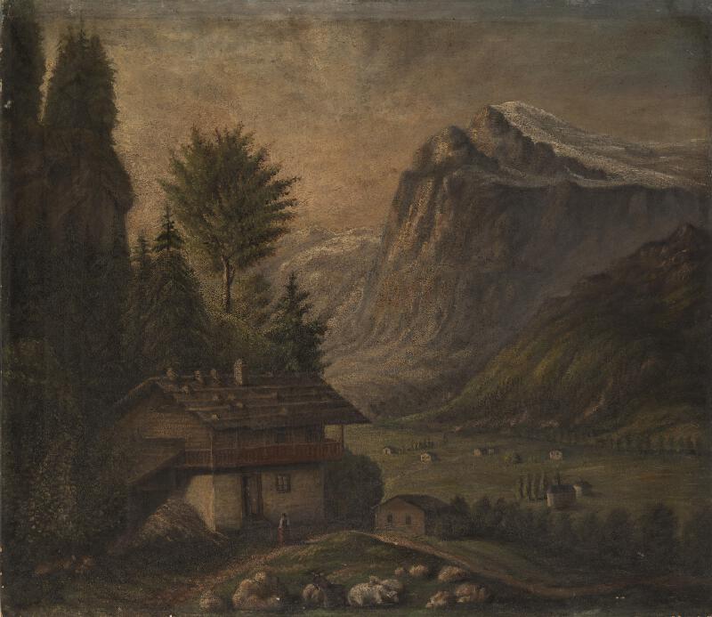 Neznámý český autor - Krajina v Tyrolských Alpách