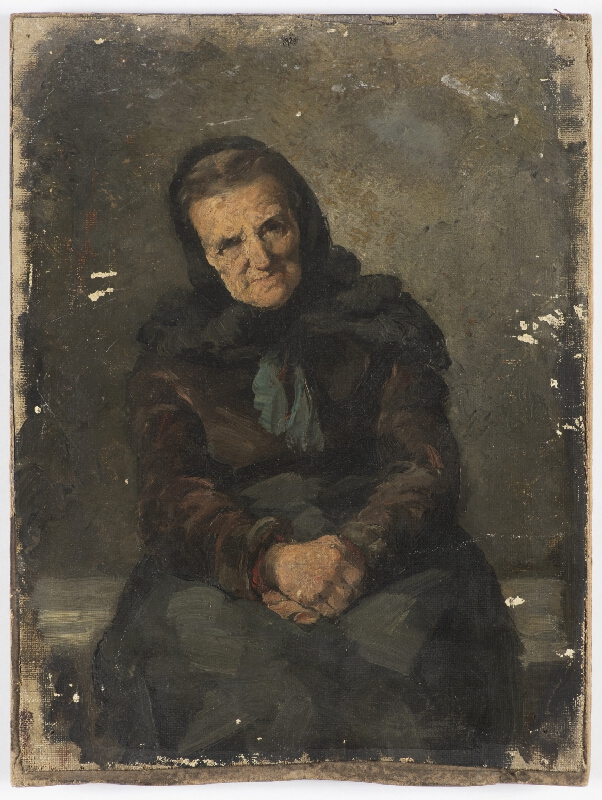 Neznámý český autor - Stará žena