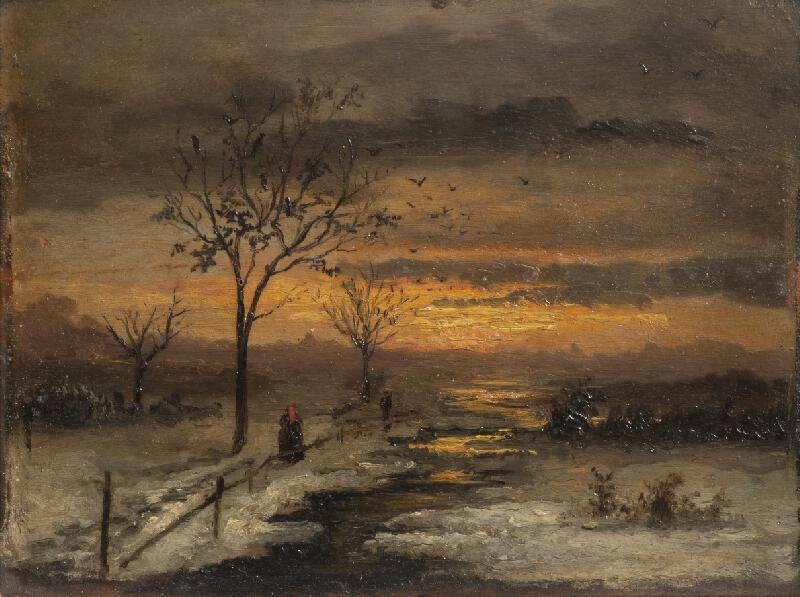 Antonín Waldhauser - Zimní krajina s červánky