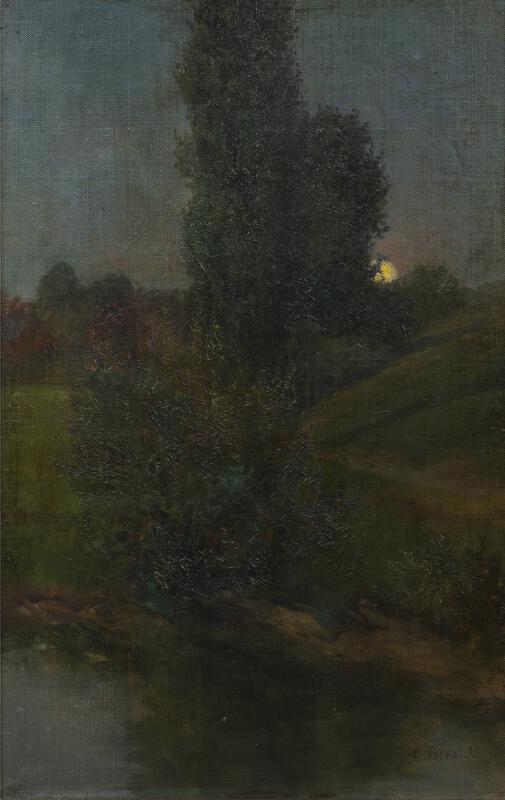 Augustin Satra - Večer na stráni u rybníka